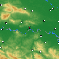 Nearby Forecast Locations - Slavonski Brod - Mapa