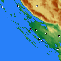 Nearby Forecast Locations - Zadar - Mapa