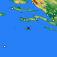Nearby Forecast Locations - Lastovo - Mapa