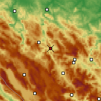 Nearby Forecast Locations - Jajce - Mapa