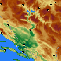 Nearby Forecast Locations - Mostar - Mapa