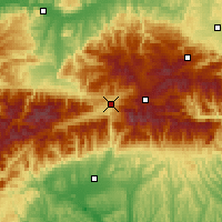 Nearby Forecast Locations - Petroşani - Mapa