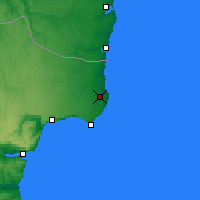 Nearby Forecast Locations - Shabla - Mapa