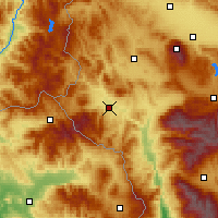 Nearby Forecast Locations - Kustendil - Mapa