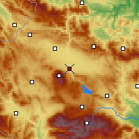 Nearby Forecast Locations - Sofía - Mapa