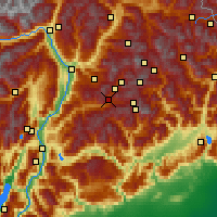 Nearby Forecast Locations - Predazzo - Mapa