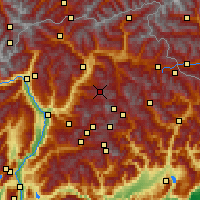 Nearby Forecast Locations - Seiser Alm - Mapa