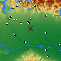 Nearby Forecast Locations - Milán - Mapa