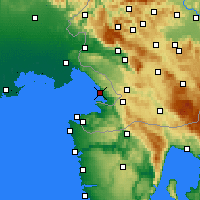 Nearby Forecast Locations - Trieste - Mapa