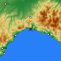 Nearby Forecast Locations - Génova - Mapa