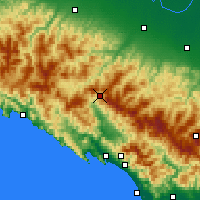 Nearby Forecast Locations - Passo d.Cisa - Mapa