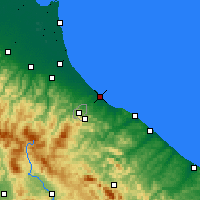 Nearby Forecast Locations - Rímini - Mapa