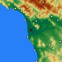 Nearby Forecast Locations - Pisa - Mapa
