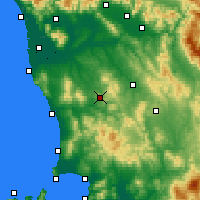 Nearby Forecast Locations - Volterra - Mapa