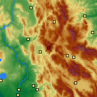 Nearby Forecast Locations - Terminillo - Mapa