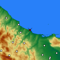 Nearby Forecast Locations - Térmoli - Mapa