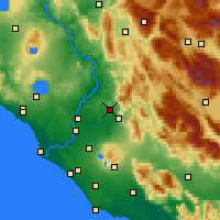 Nearby Forecast Locations - Guidonia Montecelio - Mapa