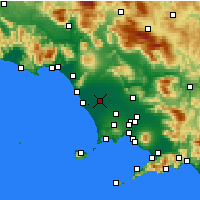Nearby Forecast Locations - Grazzanise - Mapa