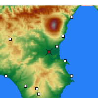 Nearby Forecast Locations - Base Aérea de Sigonella - Mapa