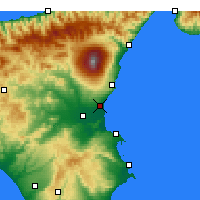 Nearby Forecast Locations - Catania - Mapa