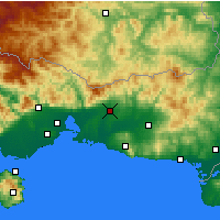 Nearby Forecast Locations - Komotiní - Mapa