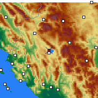 Nearby Forecast Locations - Ioánina - Mapa