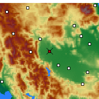 Nearby Forecast Locations - Tríkala - Mapa