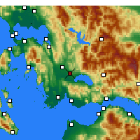 Nearby Forecast Locations - Agrinio - Mapa