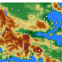 Nearby Forecast Locations - Lamía - Mapa