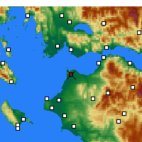 Nearby Forecast Locations - Araxos - Mapa