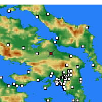 Nearby Forecast Locations - Tanagra - Mapa