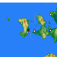 Nearby Forecast Locations - Isla de Quíos - Mapa