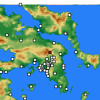 Nearby Forecast Locations - Tatoi - Mapa