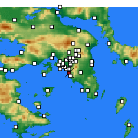 Nearby Forecast Locations - Atenas - Mapa
