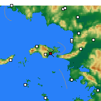 Nearby Forecast Locations - Samos - Mapa
