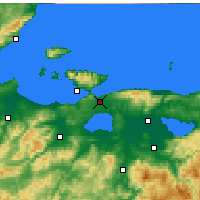 Nearby Forecast Locations - Bandırma - Mapa