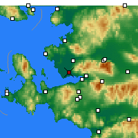 Nearby Forecast Locations - Çiğli - Mapa