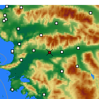 Nearby Forecast Locations - Aydin - Mapa