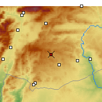 Nearby Forecast Locations - Gaziantep - Mapa