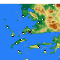 Nearby Forecast Locations - Bodrum - Mapa