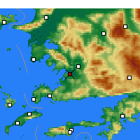 Nearby Forecast Locations - Milas- Bodrum aeropuerto - Mapa