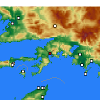 Nearby Forecast Locations - Marmaris - Mapa