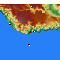 Nearby Forecast Locations - Anamur - Mapa