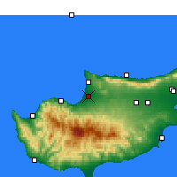 Nearby Forecast Locations - Morfou - Mapa