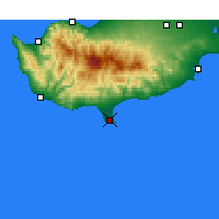Nearby Forecast Locations - Limasol - Mapa