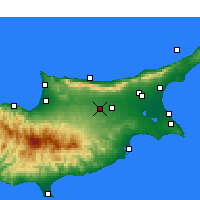 Nearby Forecast Locations - Nicosia - Mapa