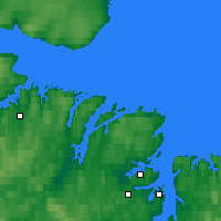 Nearby Forecast Locations - Tsypnavolok - Mapa