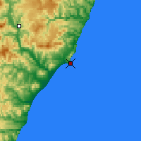 Nearby Forecast Locations - Cape Zolotoj - Mapa