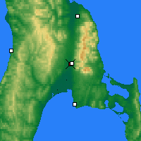 Nearby Forecast Locations - Yuzhno-Sajalinsk - Mapa