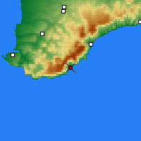 Nearby Forecast Locations - Yalta - Mapa